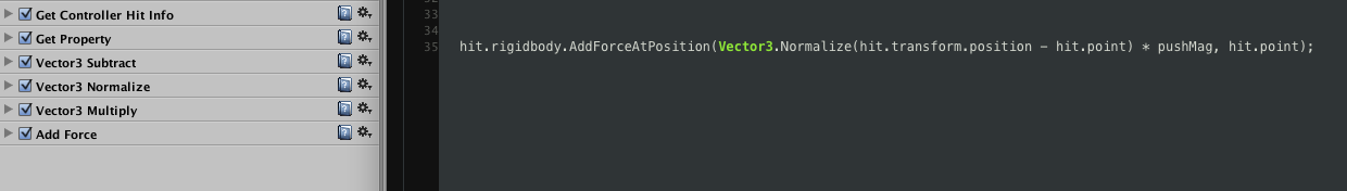 Sometimes one line of code can replace a whole bunch of finite state machine actions.